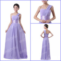 2014 Hot Selling Bridesmaid Dresses A- line One- Shoulder Long...