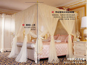 Wholesale NEW ARRIVE Mosquito Net YELLOW color Best quality sunnee floor type deluxe double air canditioning mosquito net