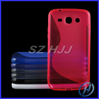 For Apple iPhone TPU For Christmas translucent S line antiskid impact absorber soft TPU frosted back protective case for samsung galaxy i9150 mega 5.8 i9200 mega 6.3 8 colors