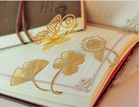 Wholesale stationery butterfly anti rust copper bookmark stationery reading note