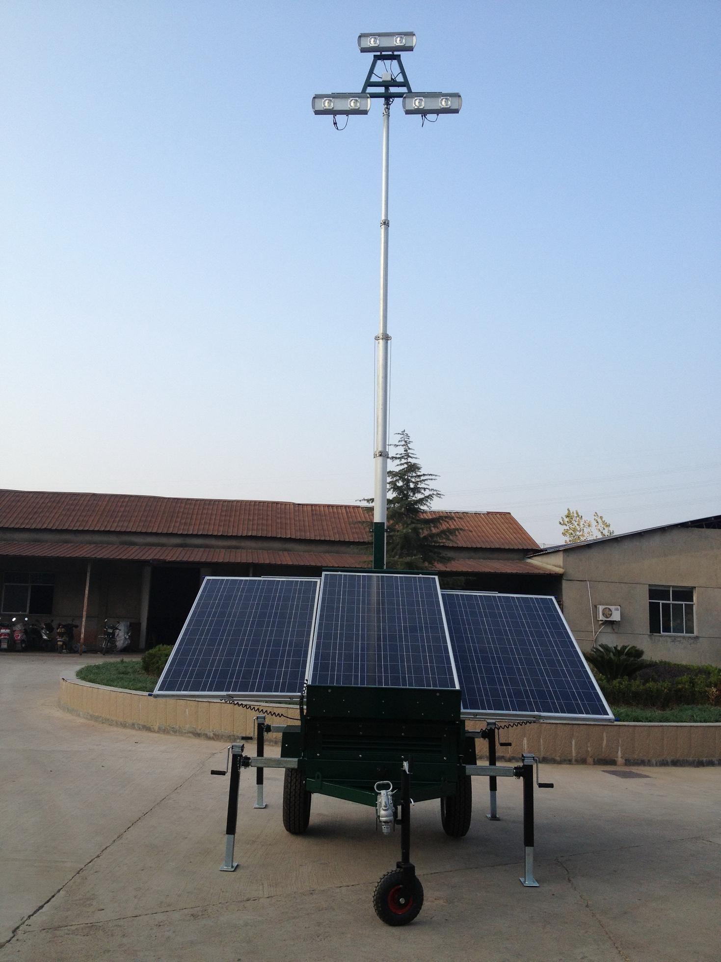 Solar Wind Hybrid Power Lighting Tower tower Solar Lightsolar