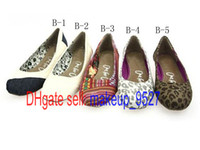 Wholesale NEW women s Shallow mouth Leopard plain shoes canvas shoes ballet Flat casual shoes shoe pairs