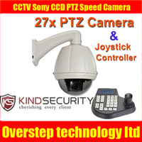 Indoor CCD  CCTV Sony CCD 27x zoom Outdoor PTZ Speed Camera Controller cables System Kit
