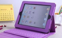 Wholesale Dropship de PC de Comprimé de Cas des Sacs sans Fil de Cuir de Clavier de Bluetooth pour l iPad iPad Air Coloré de Cas de Couverture