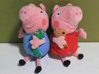 Peppa Pig With Teddy Bear George Dinosaur Plush Toy 15cm 6&q...