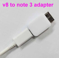 Wholesale Fast Shipping Good Quality Micro USB V8 TO NOTE3 Adapter Connector Data Sync Charger Adapter Connection for samsung note n9000 n9005