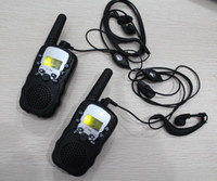 Wholesale km walkie talkies T388 radio communication CH CH interphone w voxer with earphones black color