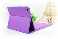 Folding IPad & Tablet USB 1 Piece Free Shipping Leather Wireless Bluetooth Keyboard Case for iPad Air iPad 5 Multi Color with Retail Box seven--eleven%%
