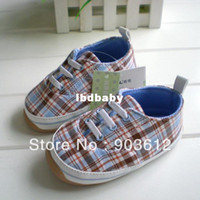 Wholesale amp Drop Shipping Elegant Plaid Design Year Old Baby s Rubber Sole High Quality Shoes Kids Lear Walking Shoe XH030
