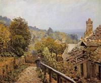 Wholesale Online Art Gallery Hand Painted Landscape Oil Painting of the Alfred Sentier de la Mi Cote Louveciennes on Canvas Unframe DHP019