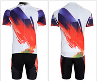 Wholesale Newest NANILI Short Sleeve Breathable Short Sleeve Bicycle White and Red Bicycle Jersey Set Good Quality Bike Jersey Size S to XL Mix Order