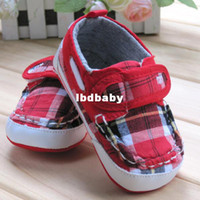 Wholesale Buy Baby Boy amp Girl s Shoes From Factory Infant Prewalker Shoes First Walkers Plaid Pattern Design Toddler Q95XH050