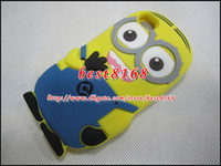 Wholesale 3D Despicable Me Cartoon soft silicone gel rubber case For ipod touch th G Gen cases cute eye more minions M skin cover