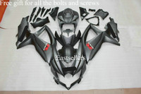 Wholesale Free gift for all the bolts and screws Complete fairing kit for GSXR K8 GSXR600 with tank cover Matte Black ZA2