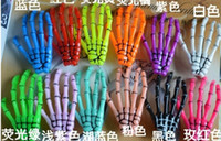 Wholesale Devil Skeleton Hand Claw Hair Clip Hairpin Decor Plastic Hair Clips Halloween Hair Barrette Punk Horror Head wear brooch breastpin Charm hot