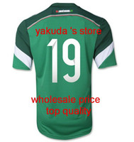 Wholesale Customized Thailand Quality World Cup Mexico O PERALTA Home Green Soccer Jersey Football Jerseys Tops Shirts