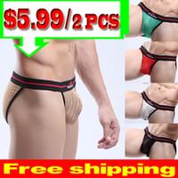 Men Nylon Briefs New 2014 Sexy See Through Men's Underwear Transparent Briefs Shorts Men Male Quick Dry Pouch Panties Free Shipping MU1006B