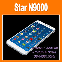 5.7 1G 1920x1080 Star N9000 MTK6589T Quad Core Note 3 FHD 1GB 16GB 5.7 Inch 3G GPS Bluetooth(0301116)