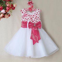 Nouvelles robes de filles de noël à vendre-2016 Robes de noel pour bébés et bébés Robes en polyester blanches Robes roses en blanc Robes pour bébés Robes pour bébés GD31115-28
