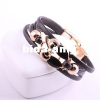 Wholesale Min order is mix order P20 Fashion simple lovely leather owl bracelet jewelry cRYSTAL sHOP