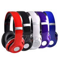 Wholesale High Definition On Ear Headphone Mini Foldable Headphone Black Red White Purple Blue For