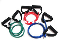 Wholesale Yoga Exercise Resistance Bands Gym Fitness Rope Muscle Stretch Workout Tube Cable