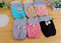 Wholesale B671 Dongkuan cute cotton wool ball cuff cuff cuff girls plush cuff