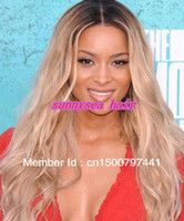 8 Indian Hair Wig,Half Wig Freeshipping!! 100%Brazilian human hair Front Lace Wig&Full Lace Wigs for fashionable women,Two tone color#1b #613 ,stock