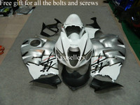 Wholesale Free gift for all the bolts and screws Complete fairing kit for GSXR1300 GSXR with tank cover White Black AS3