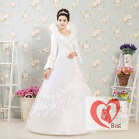 long sleeve ball gowns - In the fall and winter of female fashion lace long sleeve ball gown wedding dresses