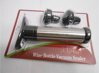 Wholesale 12 Stainless Steel Wine Bottle Vacuum Saver Sealer Preserver Pump with Two Stoppers Brand New HLI