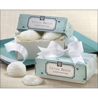 "Cheap Free shipping ""Sea shells shape"" Scented Soap for Wedding favor and gifts or Baby Shower Favors 2pcs box ,1lot=40box"