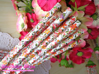 Wholesale Lovely Flower Paper Straws Floral Paper Straws Party Drinking Straws Party Supplies Wedding Supplies