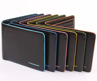 Wholesale Candy Color Genuine Leather Wallet Mens Pockets Card Clutch Bifold Purse Coin Holder Mix Cheap