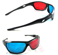Wholesale 2013 CPAM Free Re useable sport Style D glasses Plastic Black Frame D glasses Red blue D glasses for Titanic