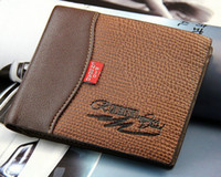 Wholesale Top Quality Genuine Leather men s Wallet Men Pockets Card Clutch Bifold Purse Coin Holder Mix Cheap