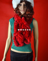 Wholesale New Fur Rex fertile source of new winter rex rabbit knitted fur scarf scarf fourfur