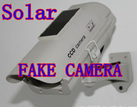Wholesale dropshipping Solar panel Fake waterproof Surveillance Security Camera Dummy camera with LED light flashes CCTV