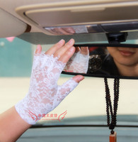 Wholesale Short cosplay half finger gloves black lace gloves white gloves stage performances