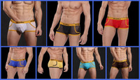 Men Boxers & Boy Shorts Sexy 3PCS Lot Mesh Gauze Transparent See Through Sexy Mens Boxers Briefs Underwear Boxer Brief Low Waist Enhance Pouch Trunks Shorts Underpants