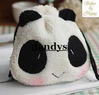 cute drawstring bag - Children s stationery New cute panda Shrink Pencil bag drawstring Cosmetic bag storage Pouch dandys