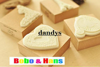 bathing works - Children s stationery New cute romantic paris style wood stamp Decorative DIY work stamp dandys