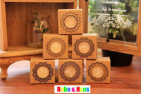 Boys' Bathing Wood Children's stationery ,New fashion lace style wood round pattern stamp Decorative DIY work stamp Wholesale, dandys
