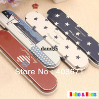 Boys' Bathing Pencil Case Children's stationery ,New fashion ocean heart style Tin Pencil case Pen box Fashion Wholesale, dandys