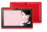 Wholesale All World NEW inch Android Capacitive Screen Mah M GB Camera WIFI Q88 Allwinner A13 Tablet PC