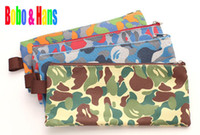 Wholesale Children s stationery New fashion camouflage style fabric Pencil bag B6 file bag pouch dandys
