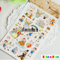 Boys' alice series - Children s stationery New set funny alice series deco PVC sticker Mobile Phone Stickers Decoration label dandys