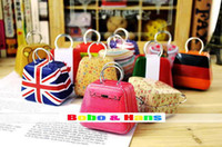 Wholesale Children s stationery New cute mini handbag style secret Tin case box gift metal case dandys
