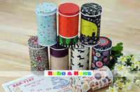Wholesale Children s stationery New fashion flower cartoon designs secret Tin case box tea case clip holder dandys