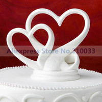 Wholesale quot You re the Top quot Interlocking Double Hearts Cake Topper for Wedding Decoration Party Ceremony Supplies